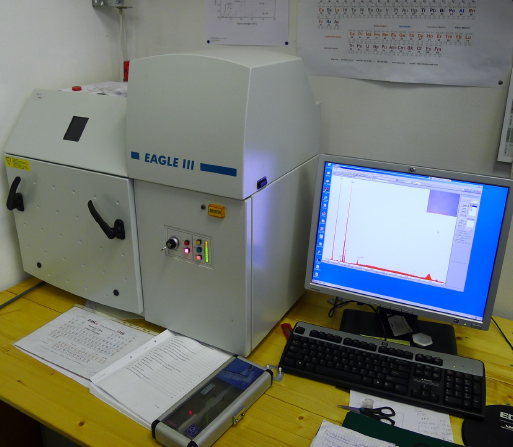 Energy-dispersive X-ray fluorescence microanalyzer with multicapillary focussing optics