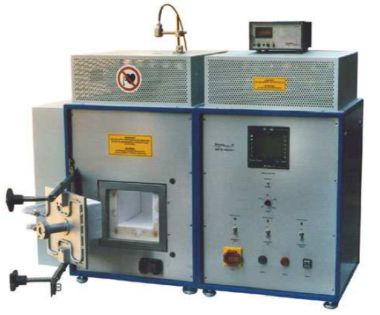 Induction oven LinnHighTermGmbH MKH- 4,8/135/135/135 for synthesis of nanostructured ceramics