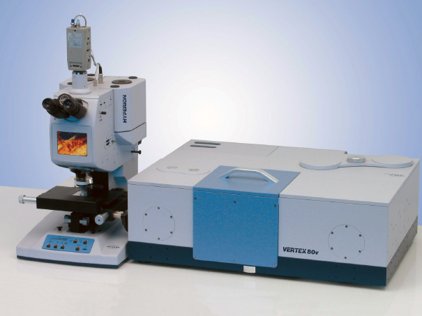 Infrared Fourier Vacuum Spectrometer VERTEX 80v. Hyperion 2000 Infrared Microscope