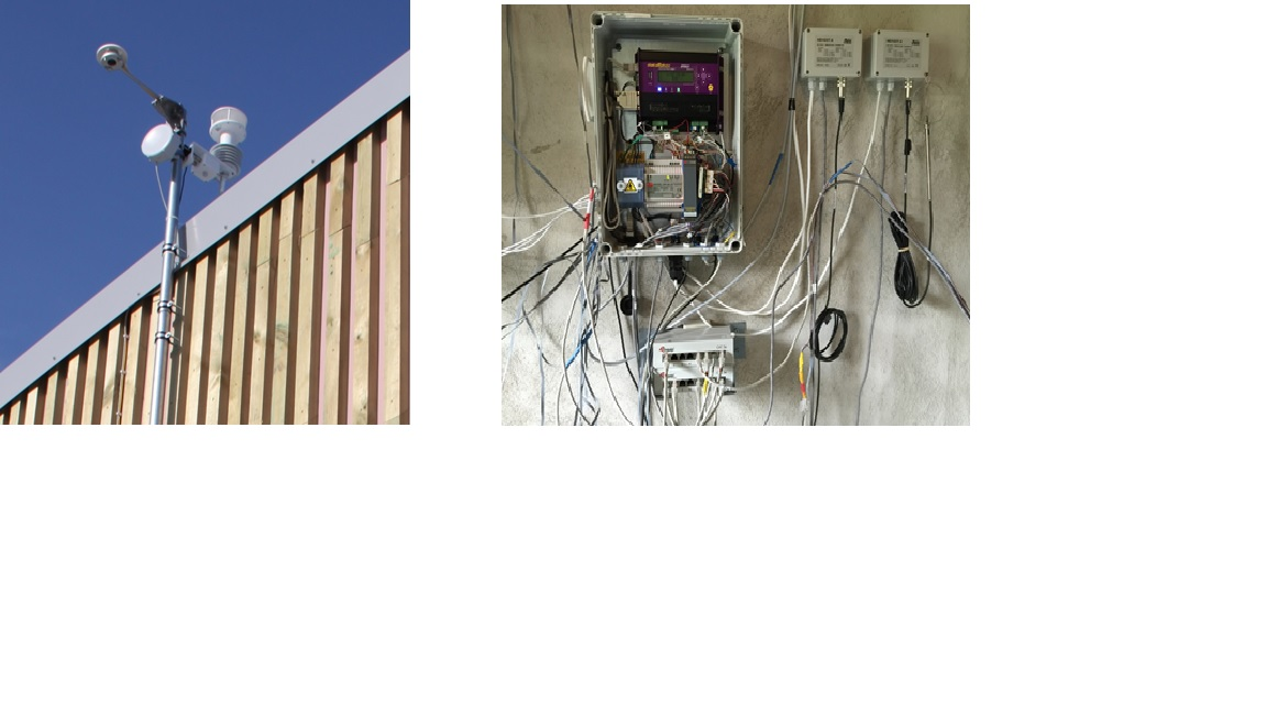 Environmental monitoring sensor set including weather station