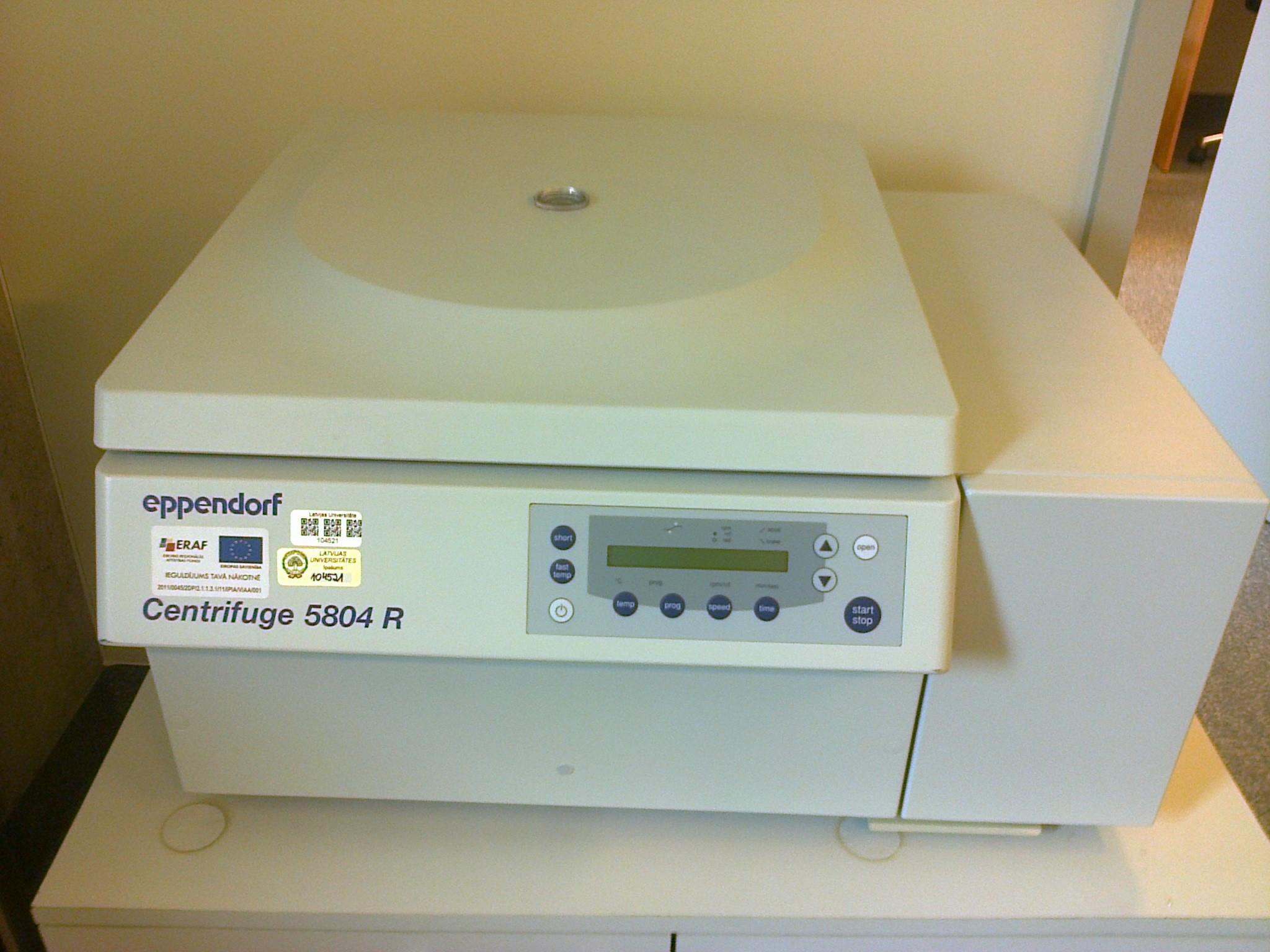 Refrigerated centrifuge 5804 R, Eppendorf