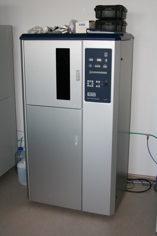 Gaismas noturības testu kamera tekstila materiāliem Q-SUN B02-S,ražotājs:Q-lab corporation:Tekstilma