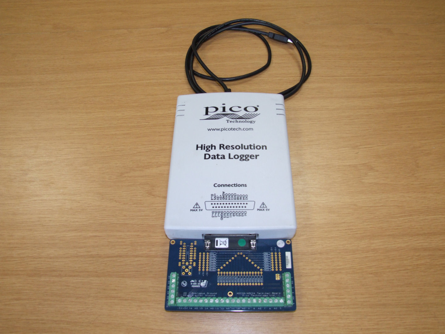 24 bit data logger, terminal board