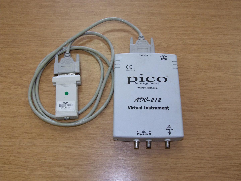 Virtual oscilooscope Pico ADC 212