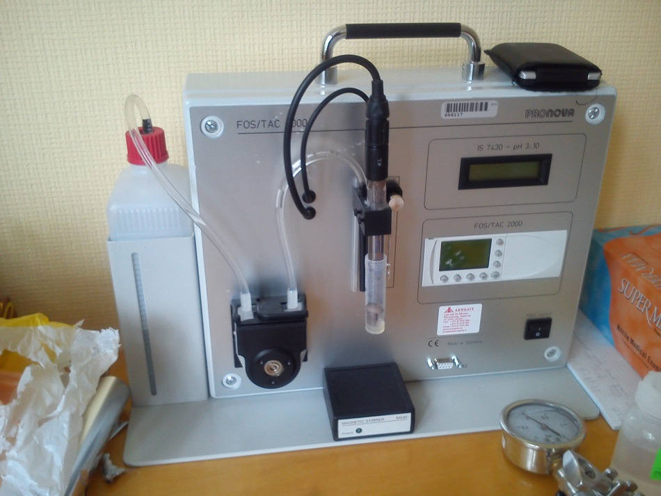 System for measuring VOAs and TAC in biogas production