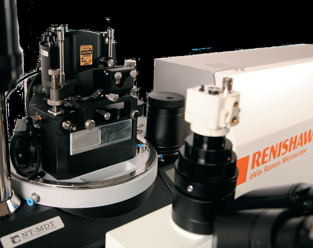 Integrated Raman spectrometer AFM system