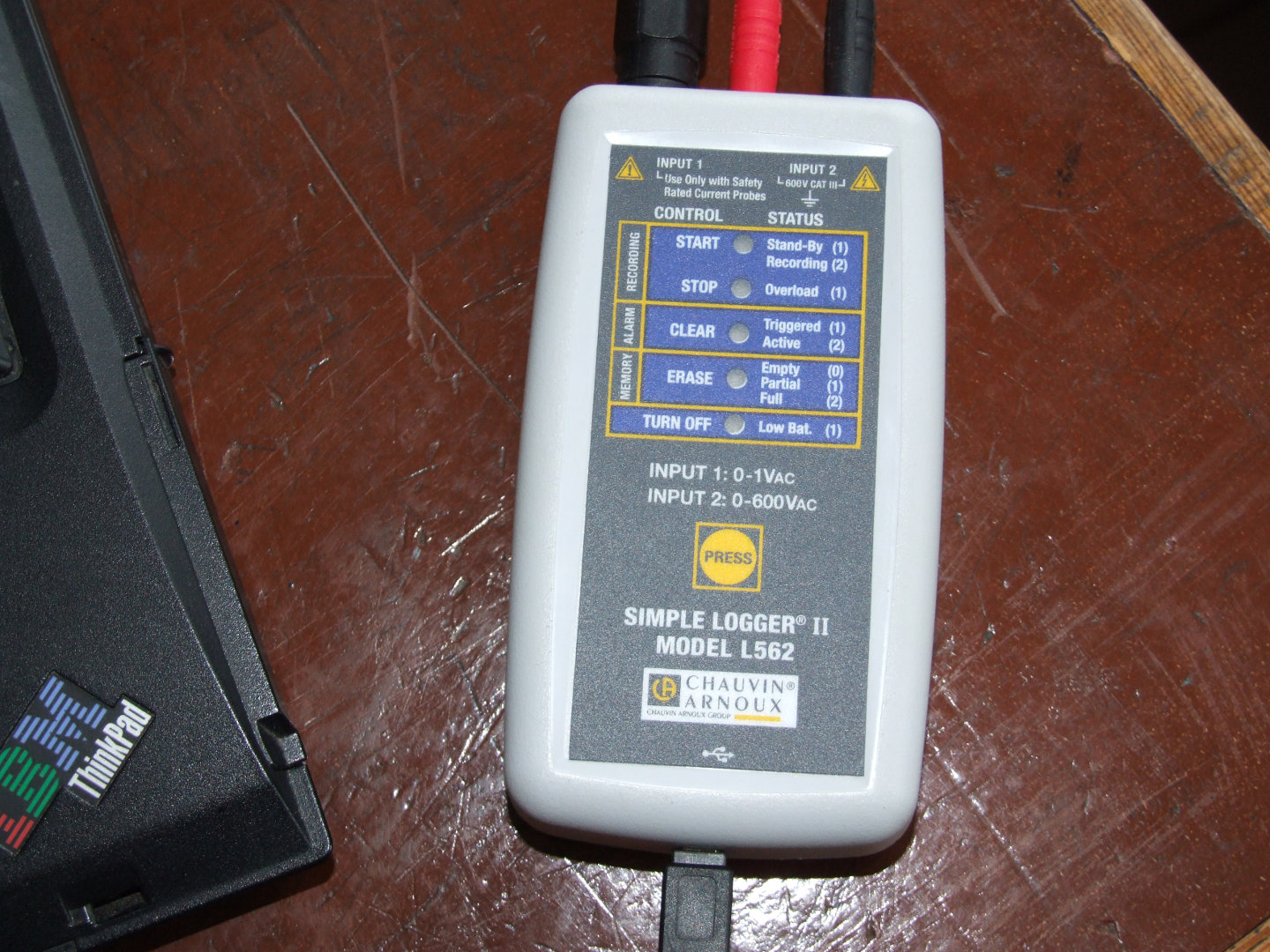 AC voltage/current data logger