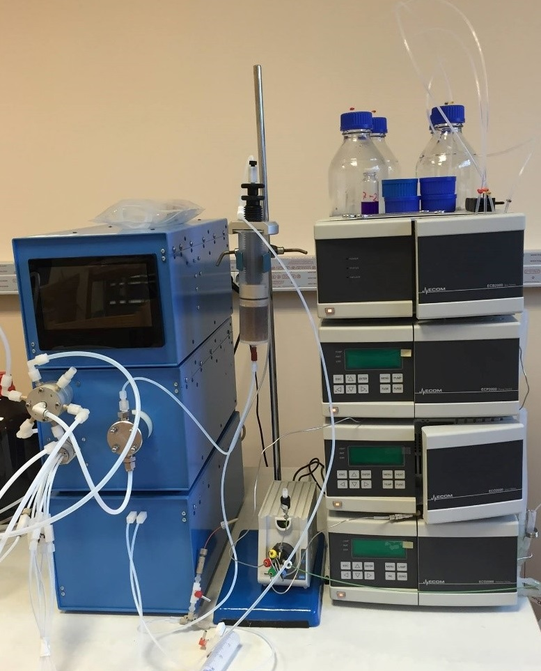 Automated preparative solid phase extraction device Sorbomate linked to a high performance liquid chromatography system with UV detection