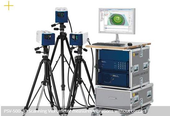 Touchless 3D scanning laser vibrometer