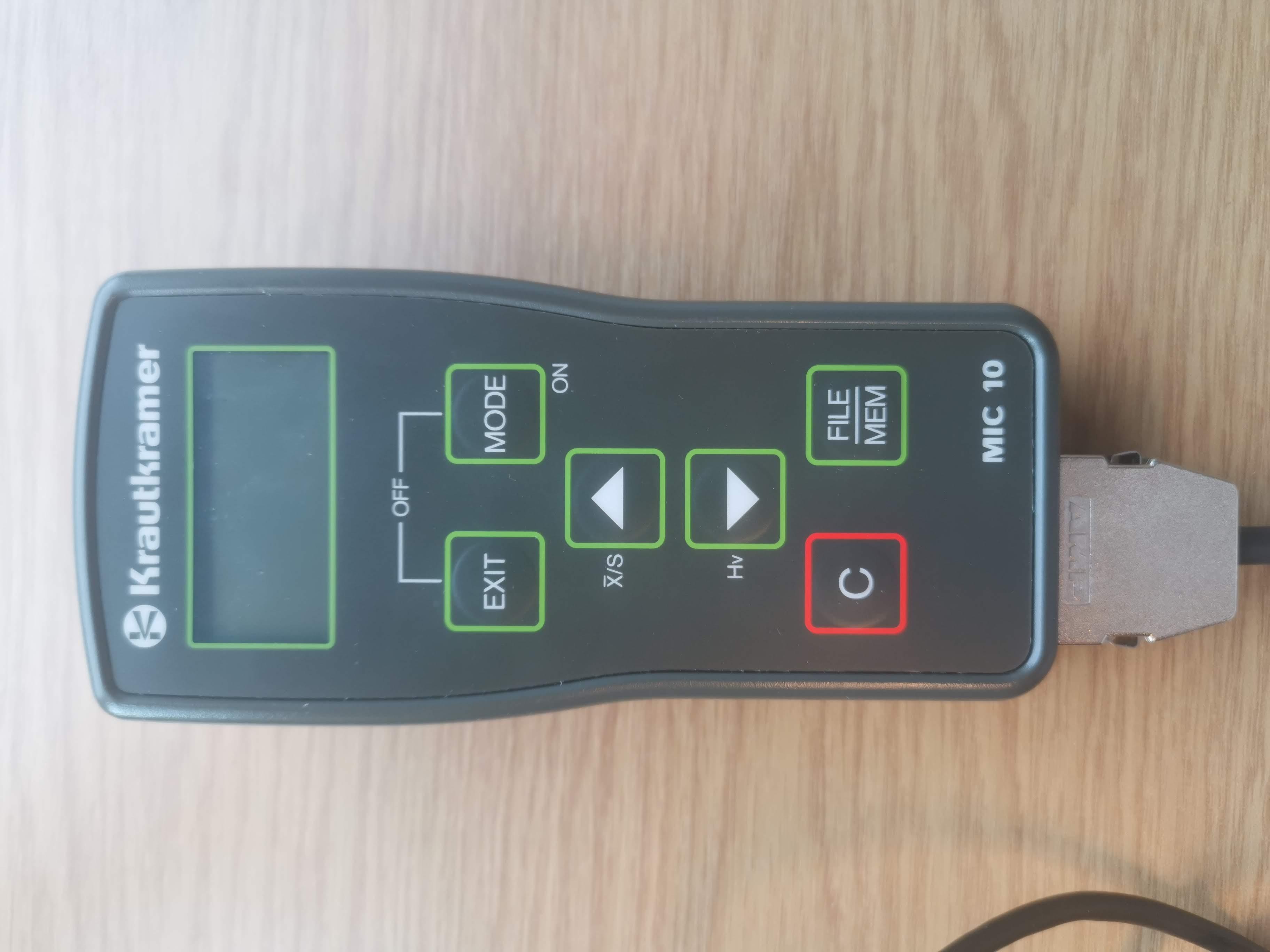 Ultrasonic hardness tester Krautkramer MIC 10 DL