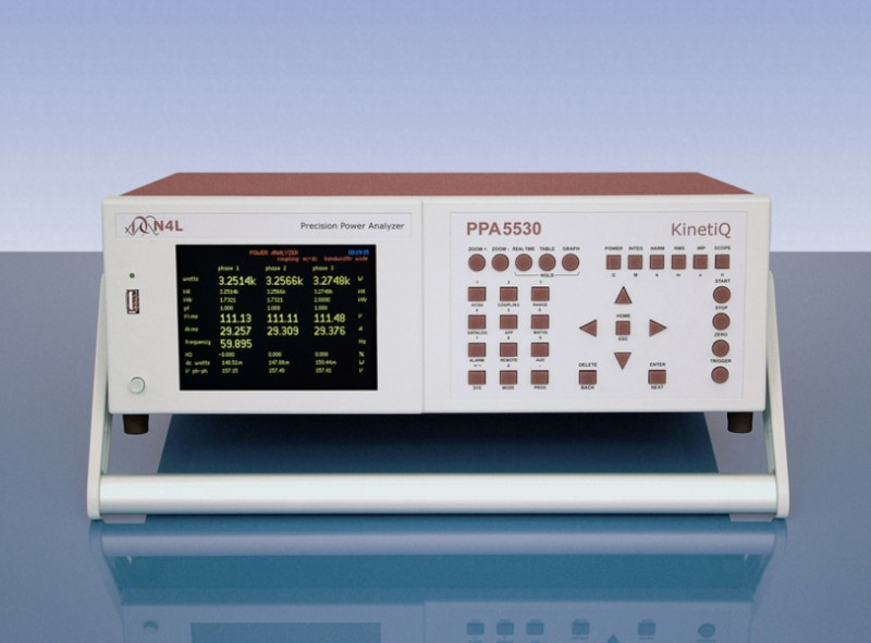 Three phase power analyser