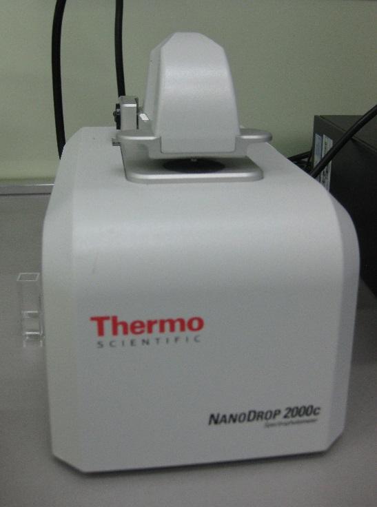 Microvolume UV-Vis spectrophotometer