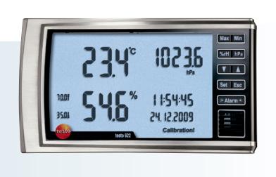 Testo 622 thermohygrobarometer rental for 24 h