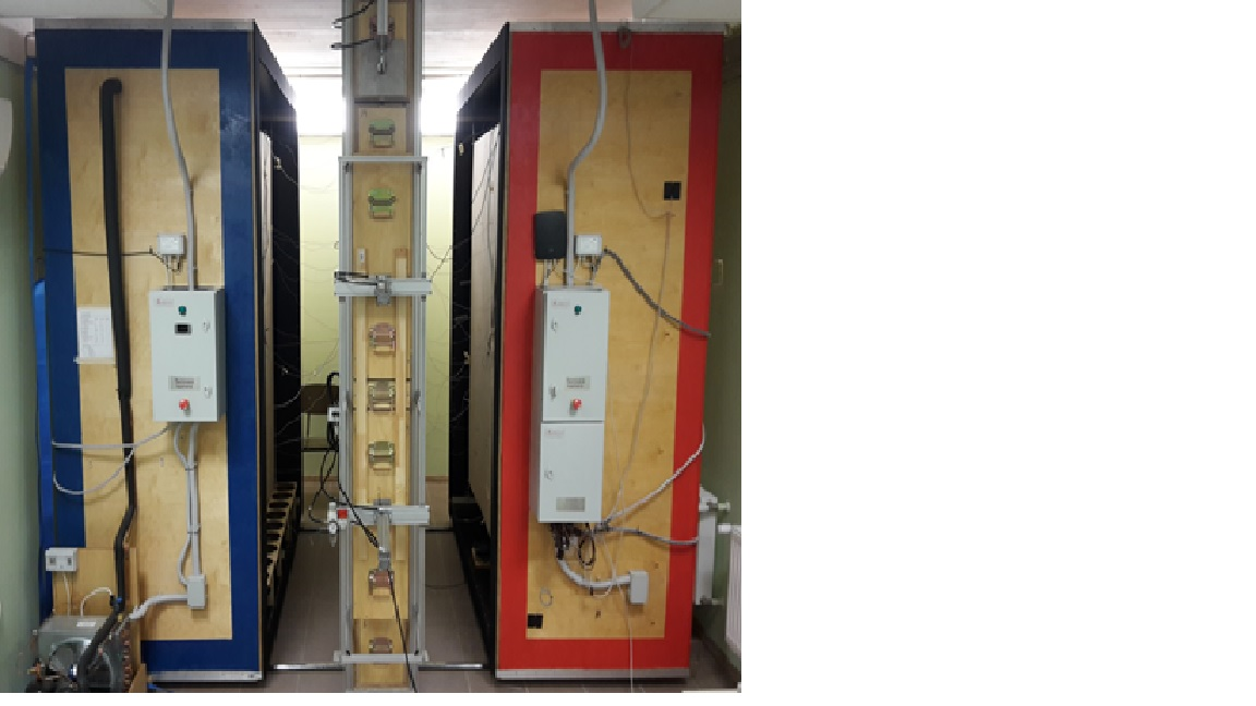 Standardized hot box equipment for measurements of u value for 160 meter dx window
